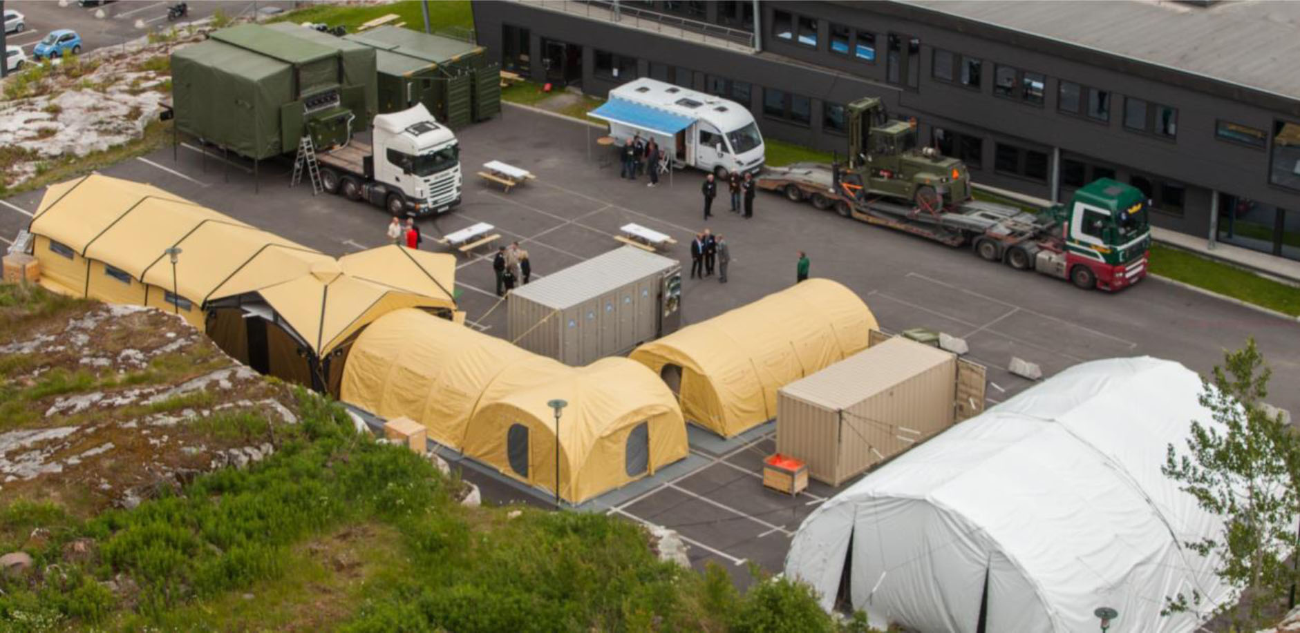 Norlense site tents